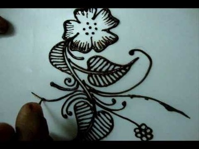 Simple floral henna design tutorial 2 (How to draw for beginners)