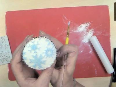 Snowflakes Cake Decorating Video Tutorial