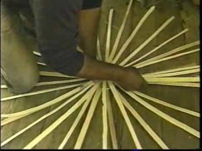 Split whiteoak basket making