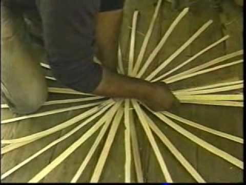 Split whiteoak basket making
