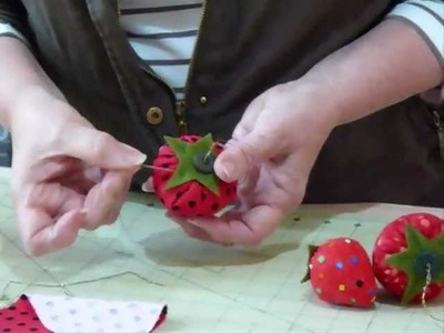 Strawberry Pin Cushion - How Delicious! - Quilting Tips & Techniques 041
