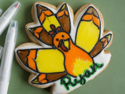 Thanksgiving cookie project - cookie decorating