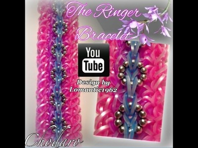 The Ringer Bracelet Loom.Hook only Tutorial.How to