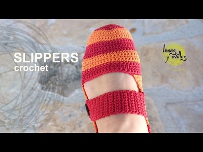 Tutorial Easy Crochet Slippers in English