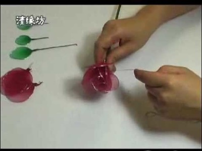 Valentine Day DIY: make a rose with stockings, metal wire, and tape