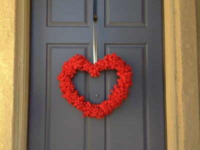 Valentines Day Wreath Felt - pinterest inspired  tutorial