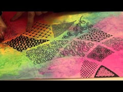 Watercolor Zentangle Tutorial