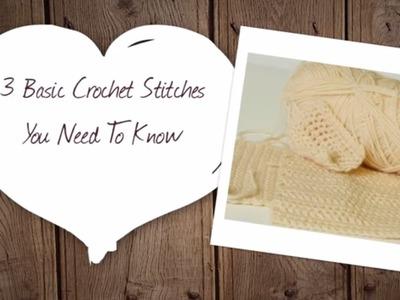 3 Basic Crochet Stitches You Need to Know | Hobbycraft