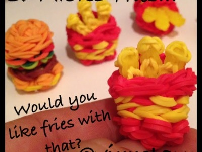 3D MICRO French Fries.Hot Chips Charm Rainbow Loom Tutorial