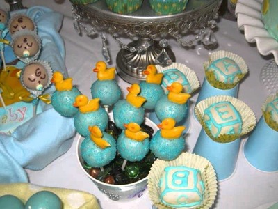 Baby shower cake pops.wmv