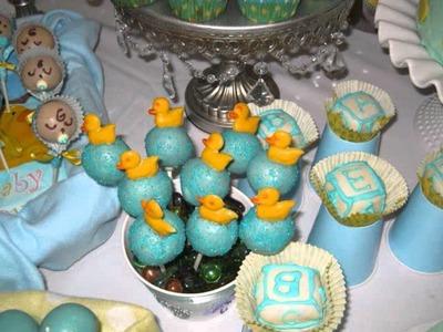 Baby shower cake pops.wmv