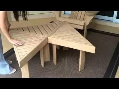 Bamboo Adirondack Chair & Tables
