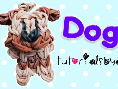 {Bobble Head} Puppy. Dog Charm.Mini Figurine Rainbow Loom Tutorial