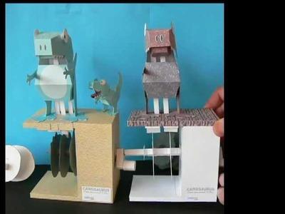 Cam Driver T.Rex, a paper model
