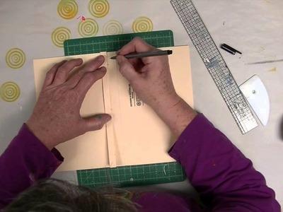 Cloth Paper Scissors -- Gelli JumpStart Journal Demo -- Part 2 -- The Cover - Patti Tolley Parrish
