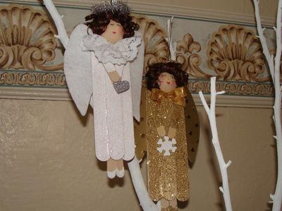 DIY - ANGELES NAVIDEÑOS ideales para trabajar con niños