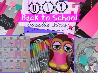 DIY Back to School Supplies Ideas!  -  Affordable Chalkboard Notebook, Planner & Bookmark Pegs