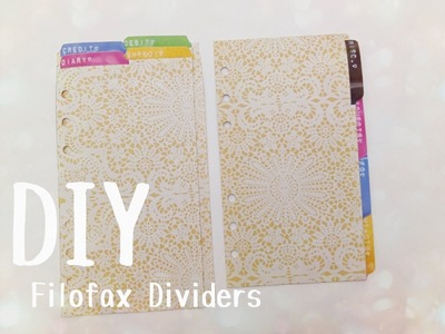 DIY: Filofax Dividers and Tabs Using A Letter Label Maker