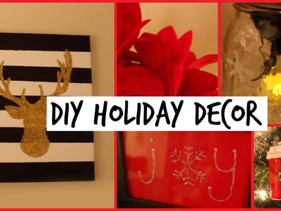 DIY HOLIDAY ROOM DECORATIONS || Easy & Cute Decor Ideas!
