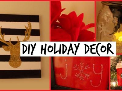 DIY HOLIDAY ROOM DECORATIONS || Easy & Cute Decor Ideas!