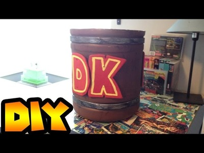 DIY | How to make a Donkey Kong barrel from a water jug. Display for Game room