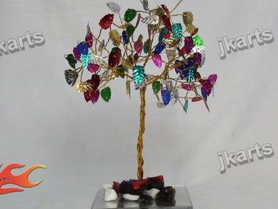 DIY Multicolor Leaves Wire Tree JK Arts 204
