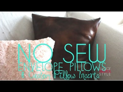 DIY No Sew Decorative Pillows under $10