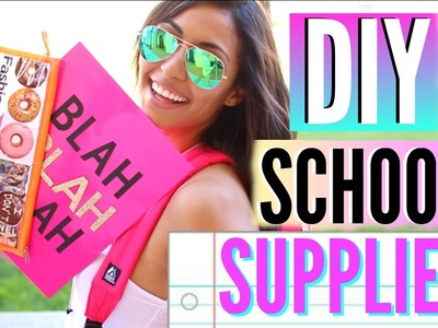 DIY School Supplies + DIY Backpack & GIVEAWAY! Back To School 2015!