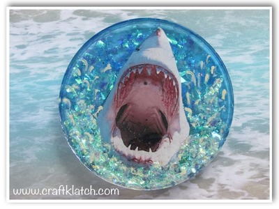 DIY Shark Attack Coaster for Shark Week!  Another Coaster Friday