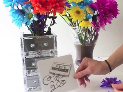 DIY| (Valentine's Day) Cassette Tape Flower Vase