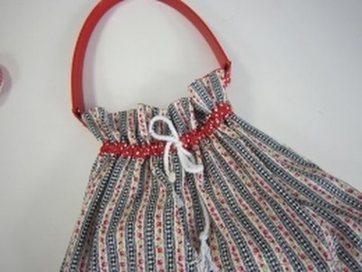 Drawstring bag sewing tutorial by Debbie Shore