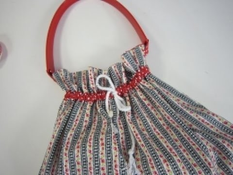 Drawstring bag sewing tutorial by Debbie Shore