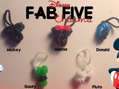 EASY Rainbow Loom Disney Fab Five Mini Charms | Mickey, Minnie, Goofy, Donald, & Pluto