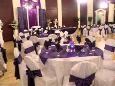 Faos Events decoracion de salon en elmelody ballroom color morado