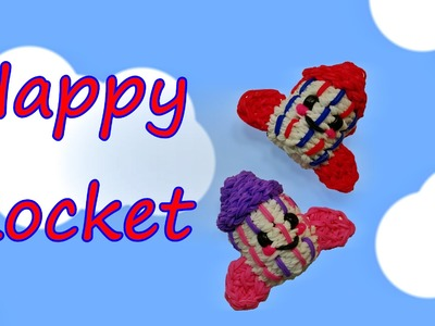 Happy Rocket Tutorial by feelinspiffy (Rainbow Loom)