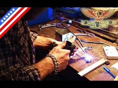 Home made shock compressor for Harley Davidson motorcycle tutorial - ep2 Roma Custom Bike