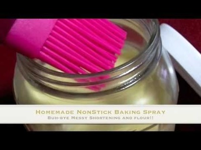 Homemade Non Stick Baking Spray