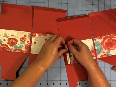 How to Assemble Heart Box from Box It Up Cricut Cartridge
