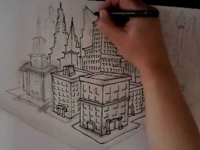 How to draw buildings,skyscrapers (ORIGINAL,NOT A COPY)