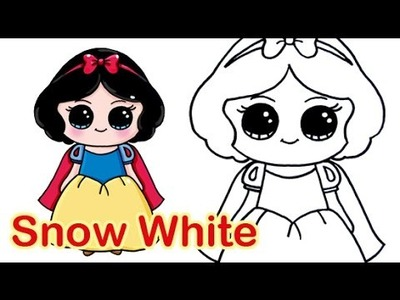 How to Draw Disney Princess Snow White Cute and Easy