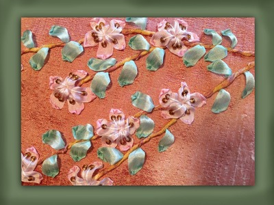 How to embroider silk ribbon cherry blossom flowers