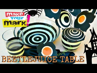 How to: Halloween Beetlejuice Dinner Table