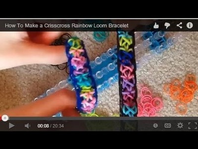 How To Make a Crisscross Rainbow Loom Bracelet