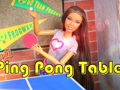 How to Make a Doll Ping Pong Table - Doll Crafts
