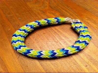How to make a hexafish rainbow loom bracelet with your fingers easy