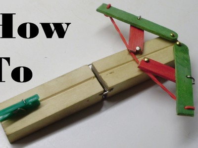 How to Make a Mini Foldable Crossbow