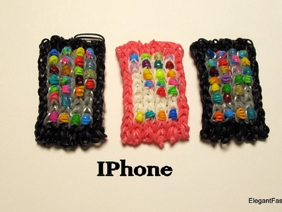 How to make Loom Bands iphone.ipad.Smart phone Charm on Rainbow Loom- only 1 loom