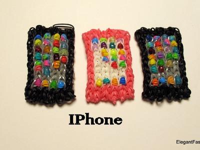 How to make Loom Bands iphone.ipad.Smart phone Charm on Rainbow Loom- only 1 loom
