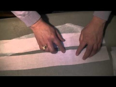How-to-make-mens-trousers - waistband technique 2 part 1 full video