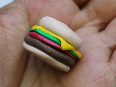 How to make Polymer clay hamburger (stitchmarker or other jewelry)